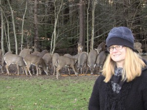 The author with some Poconos wildlife.