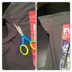 cut t-shirt