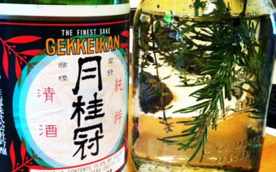 Misadventures in Sake Infusion, Part I: Rosemary, Thyme, and Peppercorns