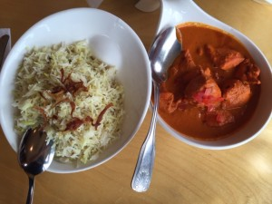chicken tikka masala thali