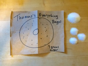 thomas's everything bagel sugar