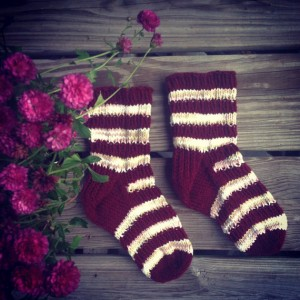 Hand-knitted socks by Elizabeth J. Jancewicz