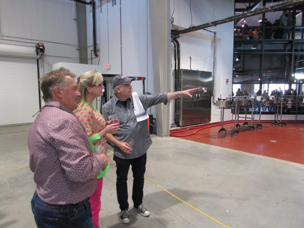 Manny, one of the many friendly faces at the brewery, giving a tour of the facilities