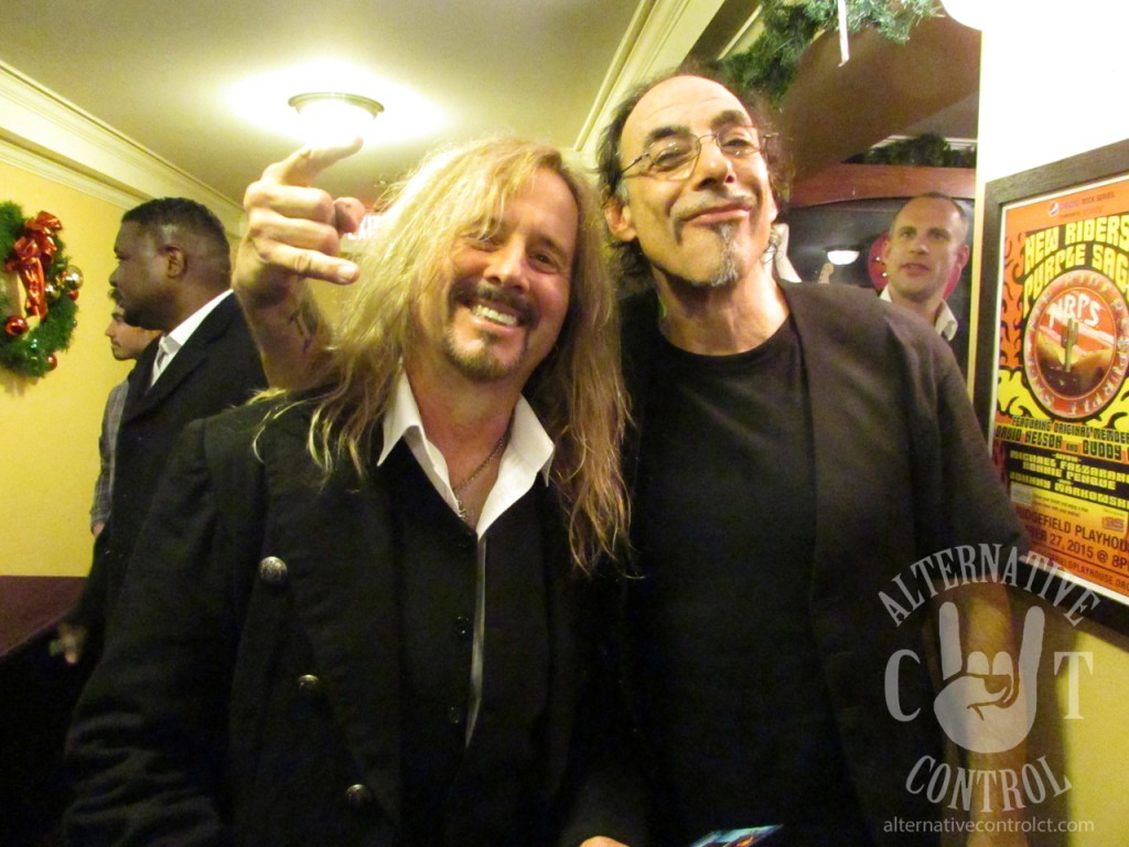 Drummer's retribution! Here is drummer Tommy Ference up close with vocalist Vinny Jiovino
