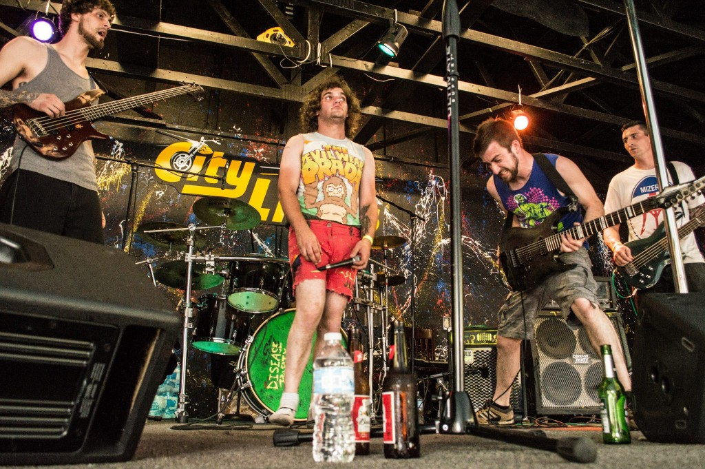 """Disease Party performing at """"13 Hours of Music for $13,"""" May 9, 2015 at City Limits Cafe in Thomaston."""