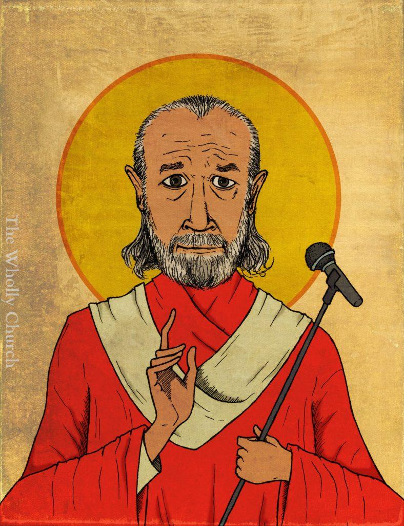 saint george carlin the wholly church